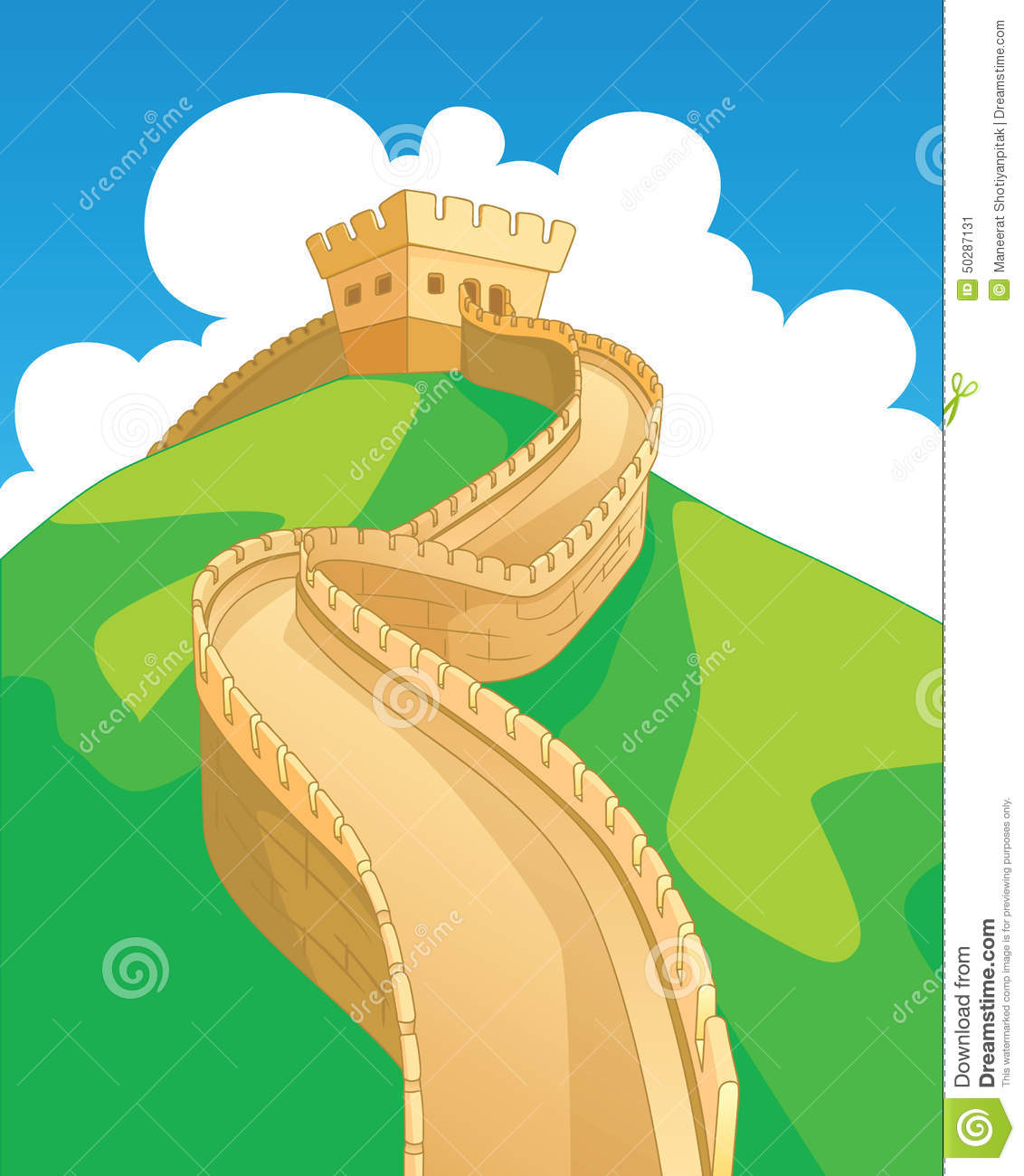 China Wall stock illustration. Illustration of famous - 50287131