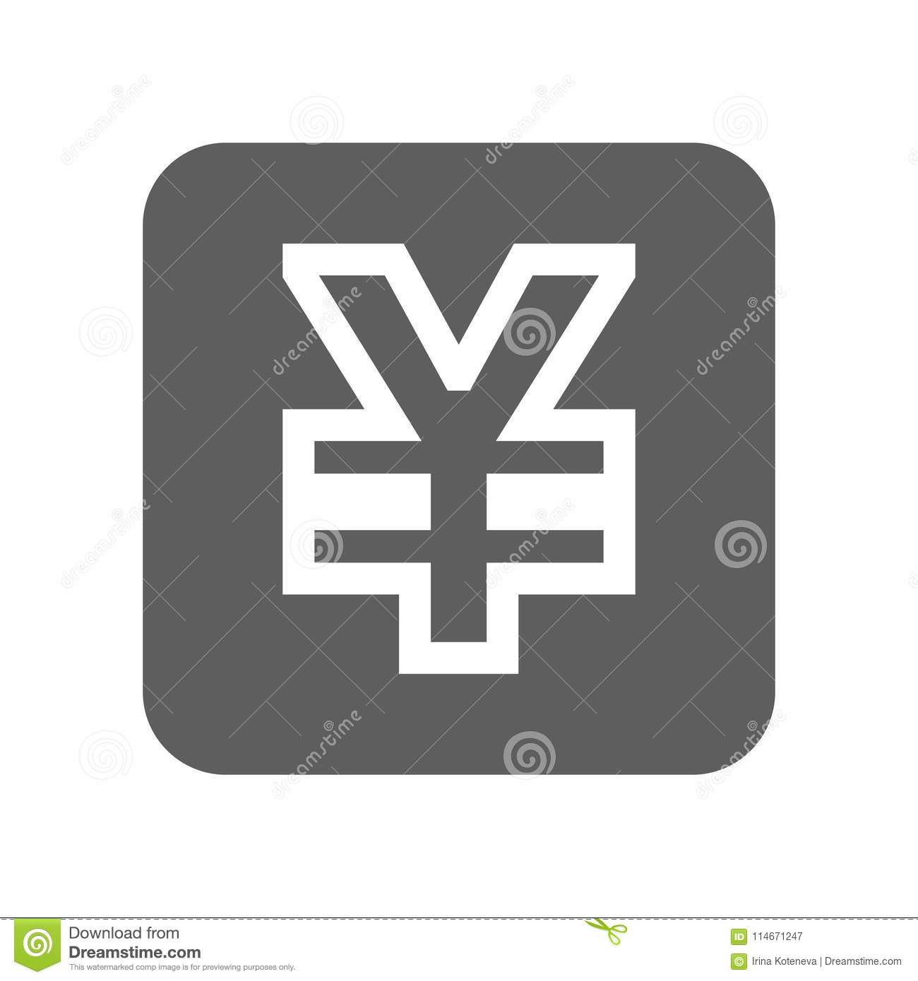 China Yuan Currency Icon Stock Illustration Illustration Of