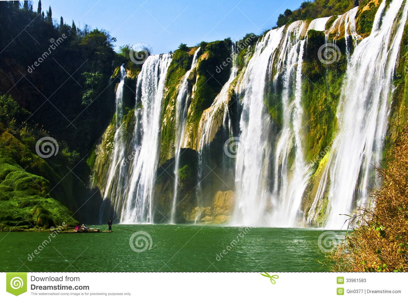 China Yunnan Luoping Kowloon Falls Group Stock Photos - Image ...