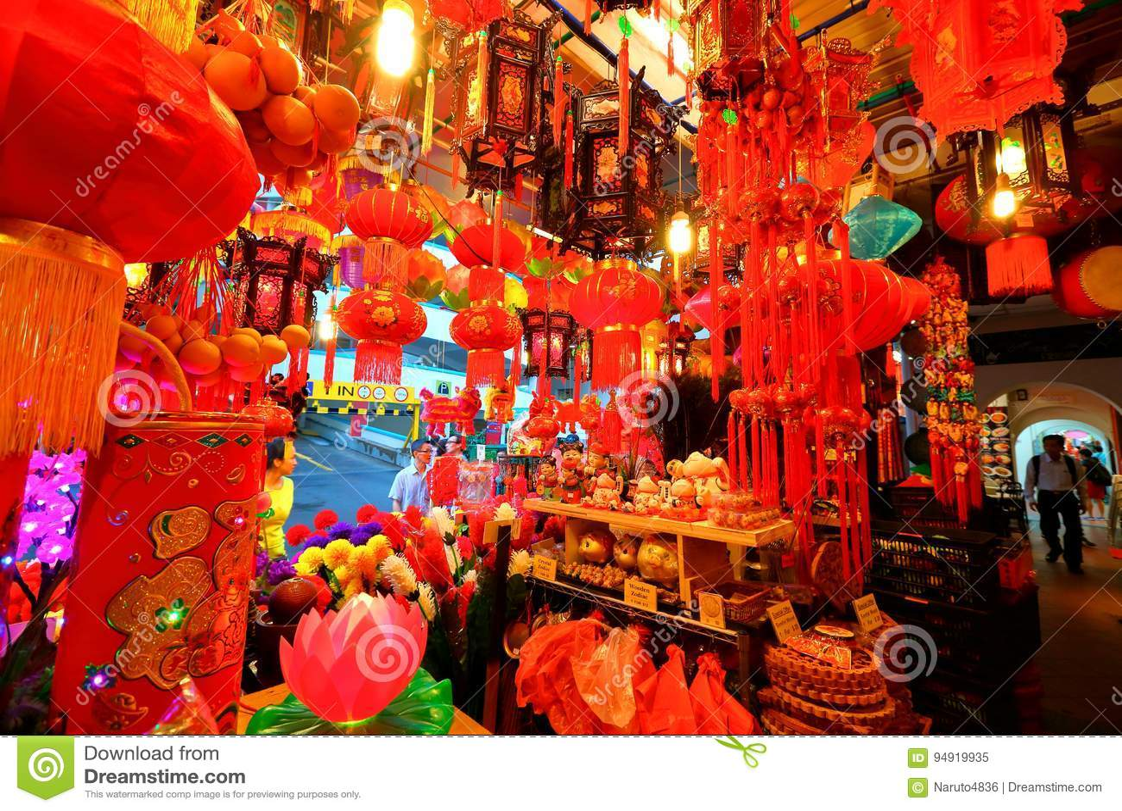 Chinatown kinesiskt lunar nytt shoppinsingapore år