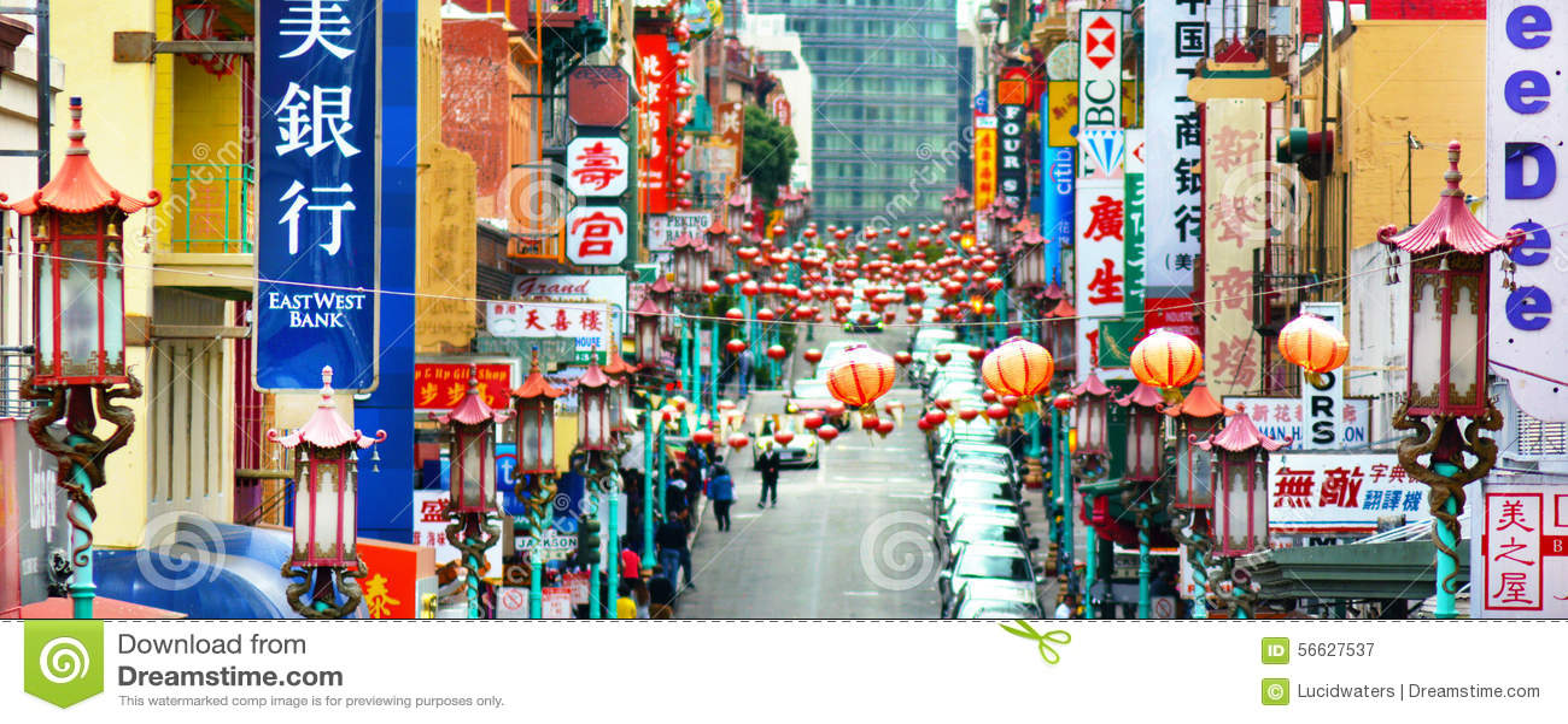 Chinatown in San Francisco California
