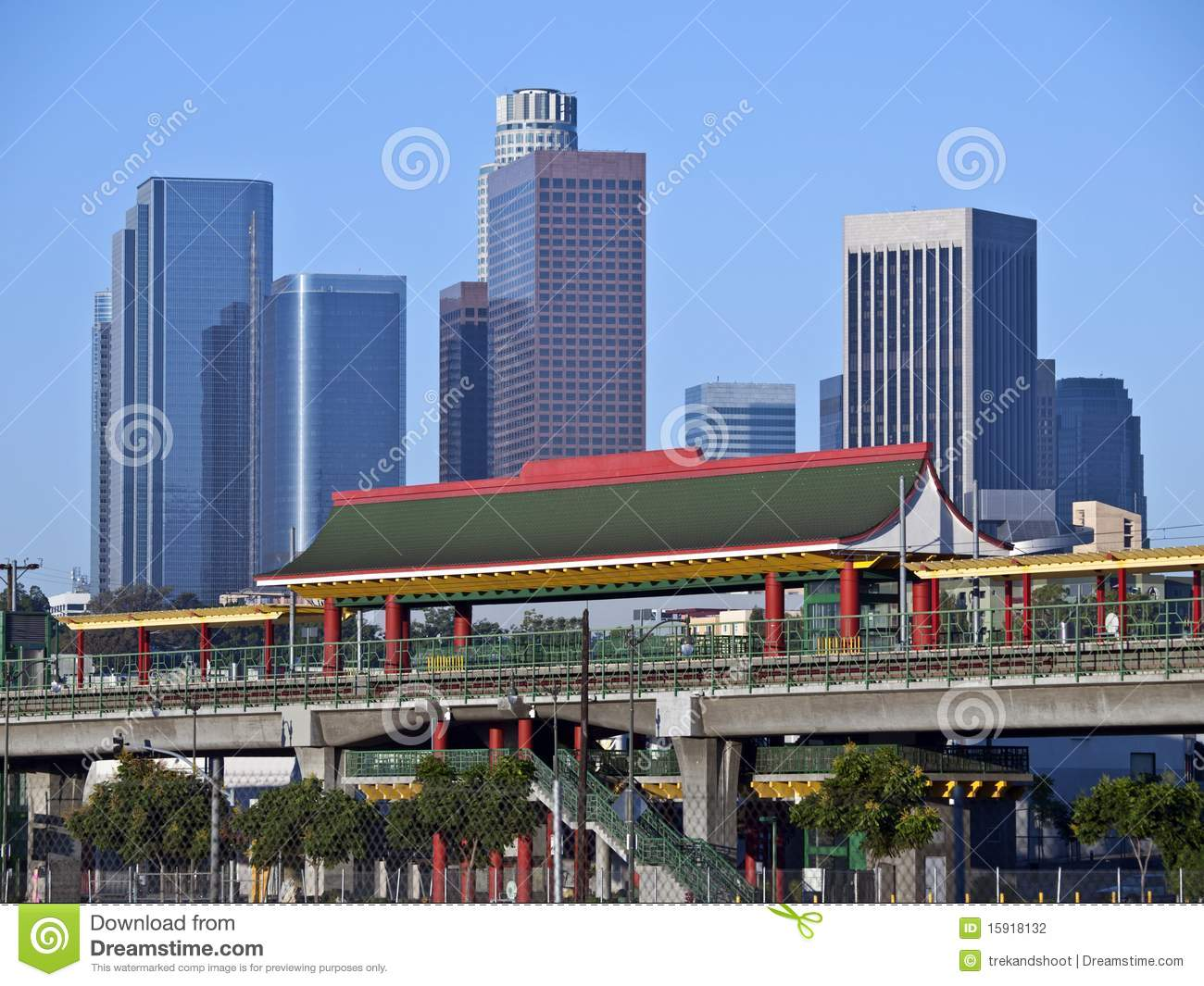 Chinatown Station In Los Angeles Stock Photo Image Of Train Travel 15918132