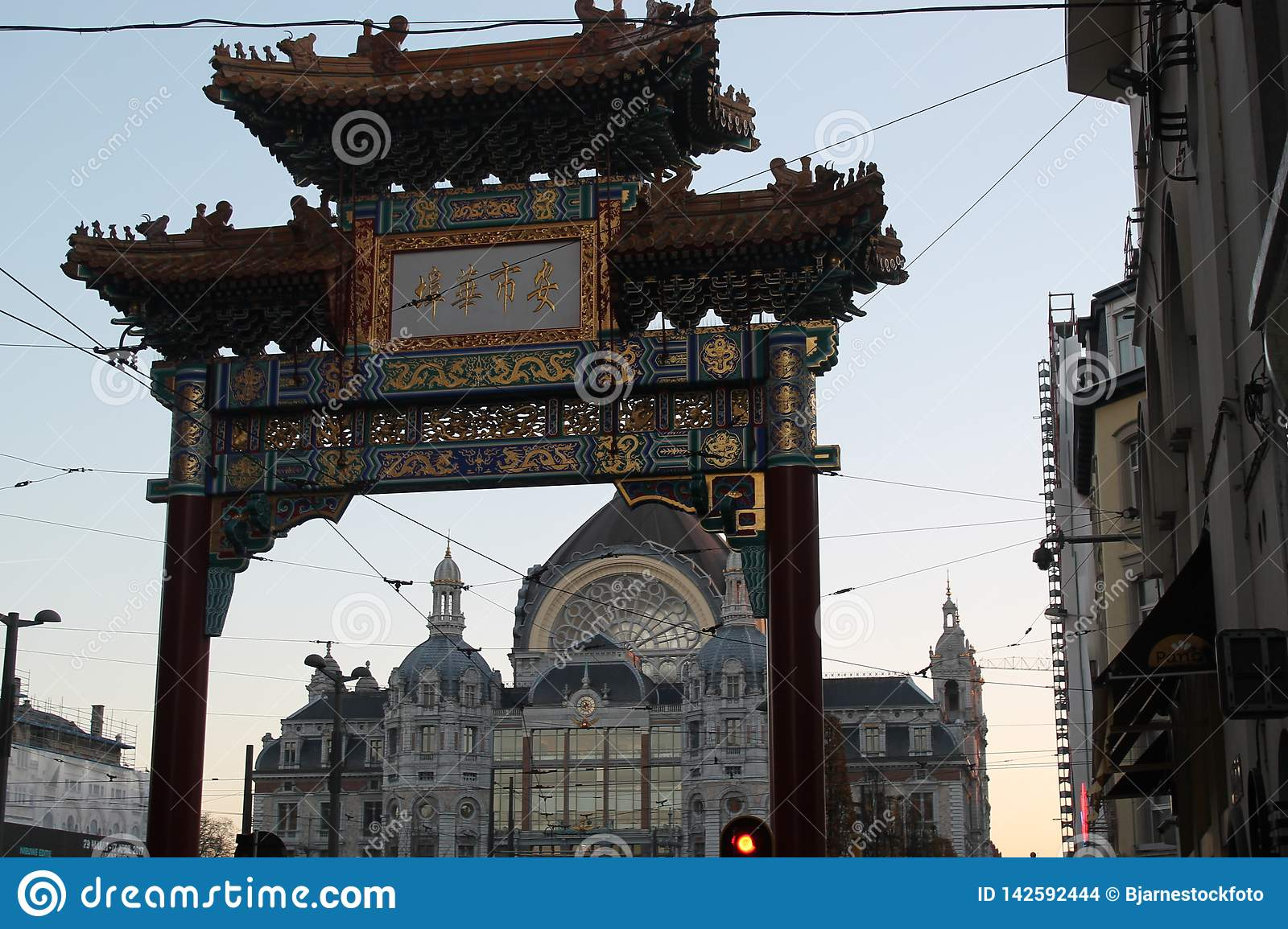 Chinatown-Tor in Antwerpen