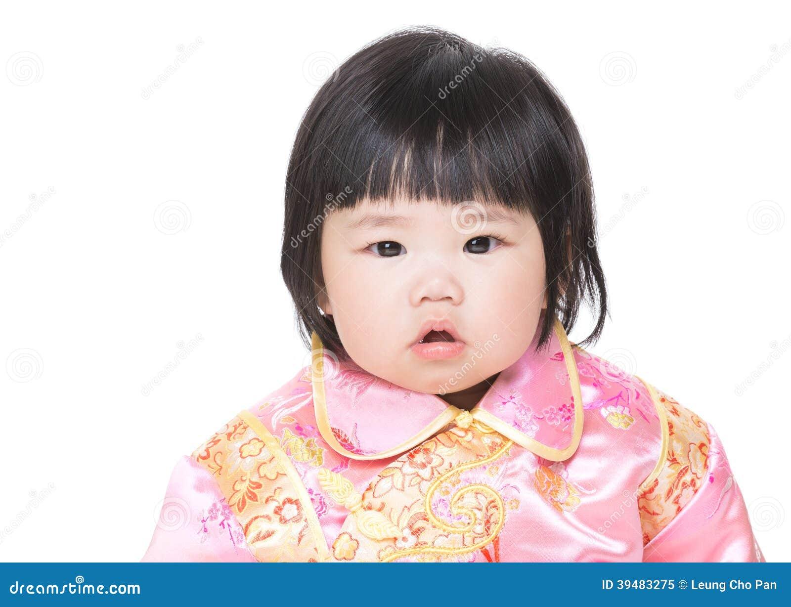 Chinees geïsoleerd babymeisje