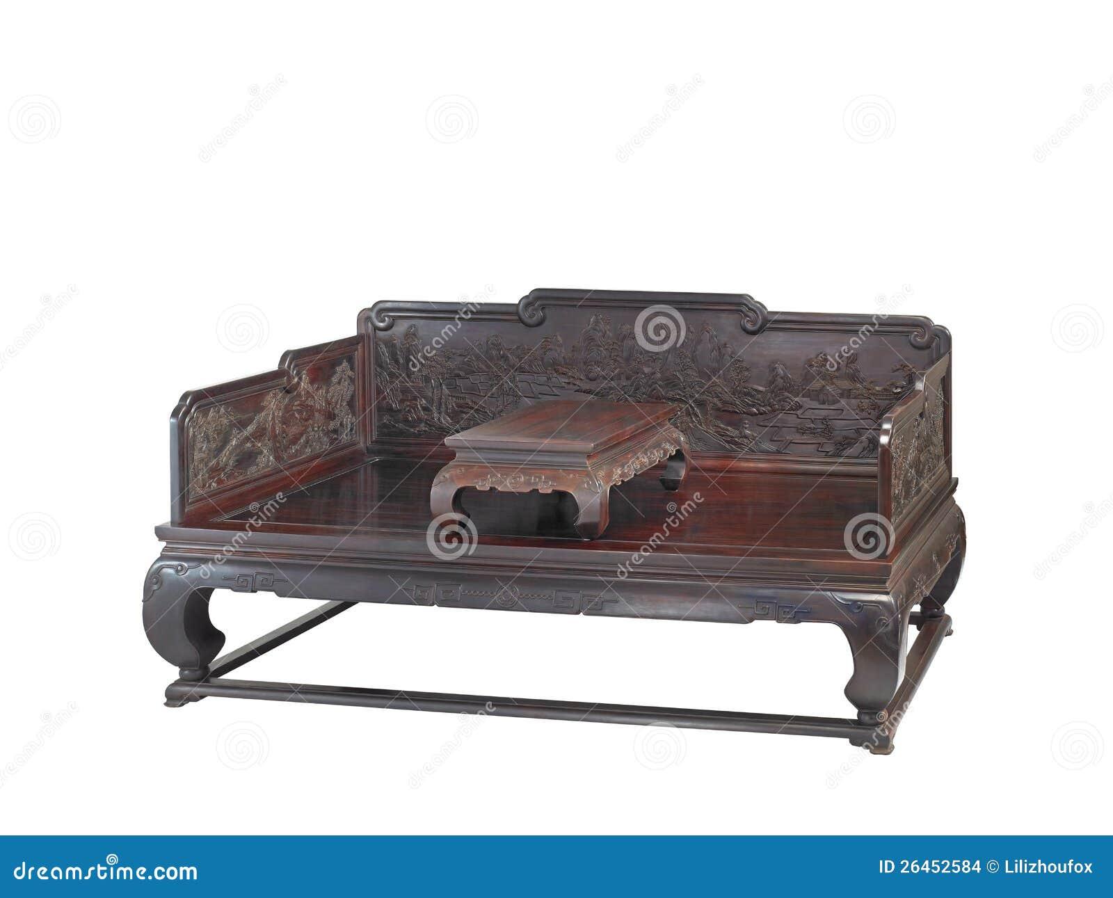 Chinees klassiek meubilair van ming stijl stock afbeeldingen afbeelding 26452584 - Klassiek bed ...
