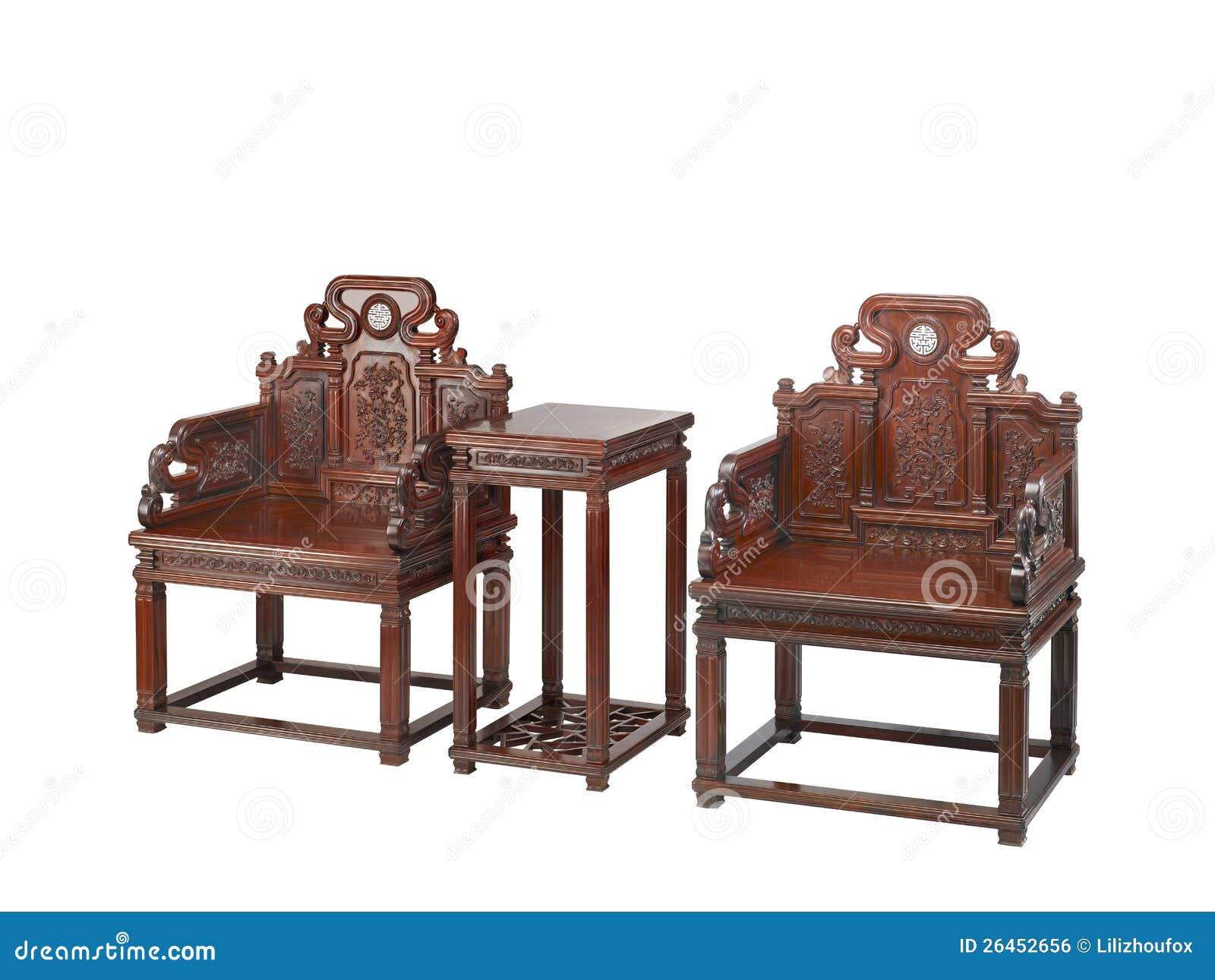 chinees klassiek meubilair van ming stijl stock foto