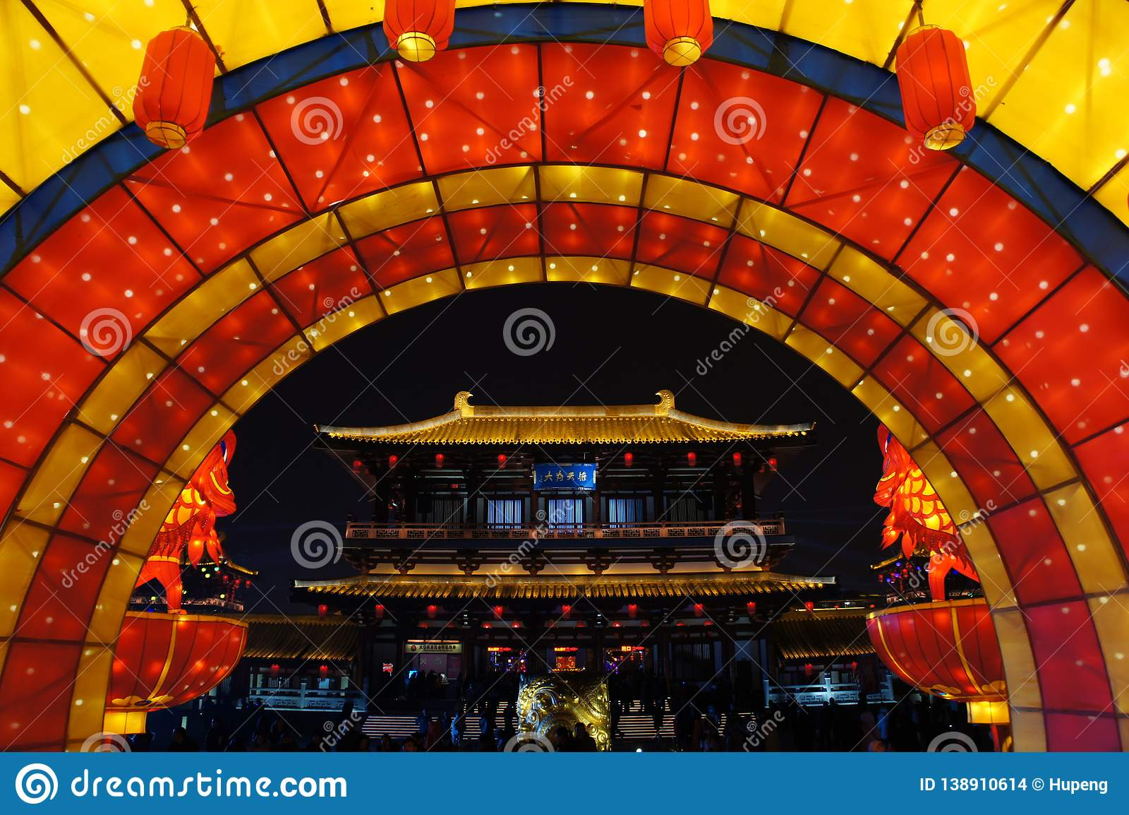 2019 Chinees nieuw jaar in Xian