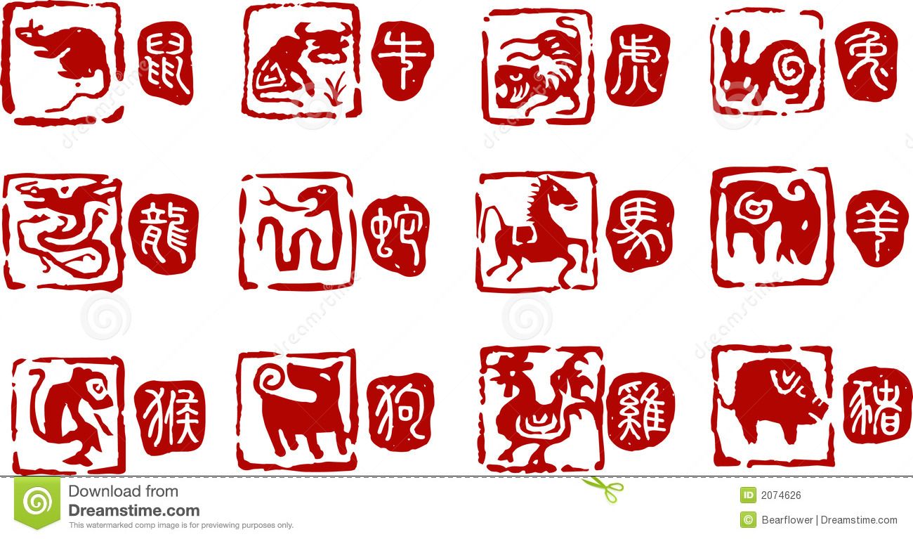 Red Stamps On Chinese Paintings