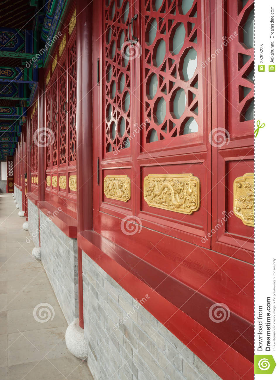 chinese ancient building doors and windows stock image image of