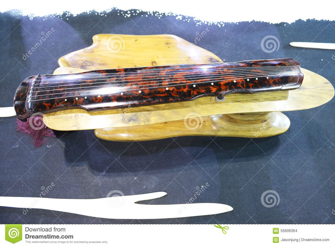 Chinese Ancient Music Instrument Guqin Stock Photo - Image ...  Chinese Ancient...