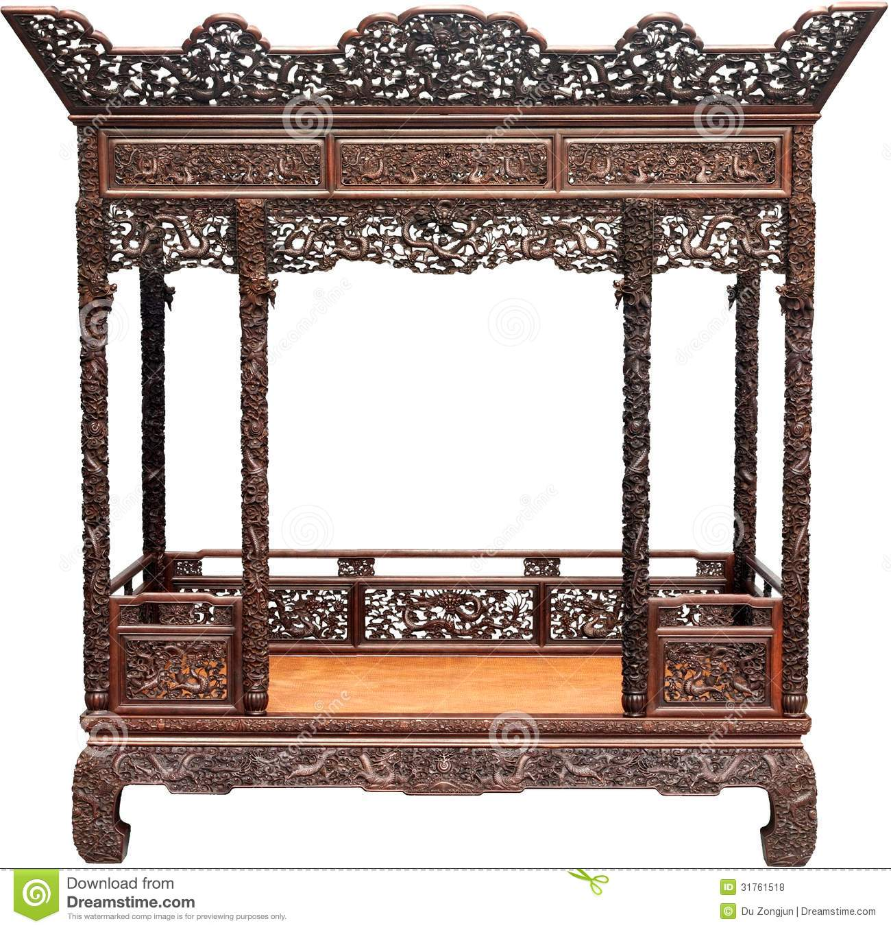 Chinese antique bed royalty free stock photos image for China furniture bed