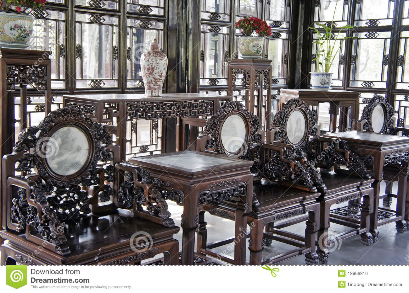 - Chinese Antique Furniture Stock Photo. Image Of Culture - 18966810