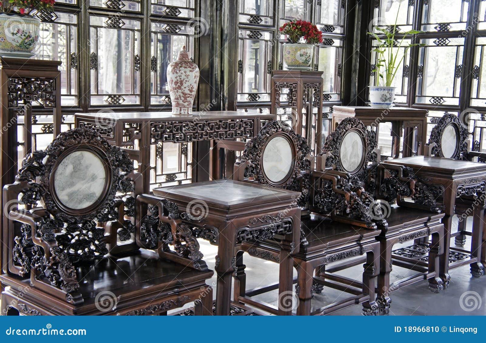 Chinese Antique Furniture Stock Photo Image 18966810