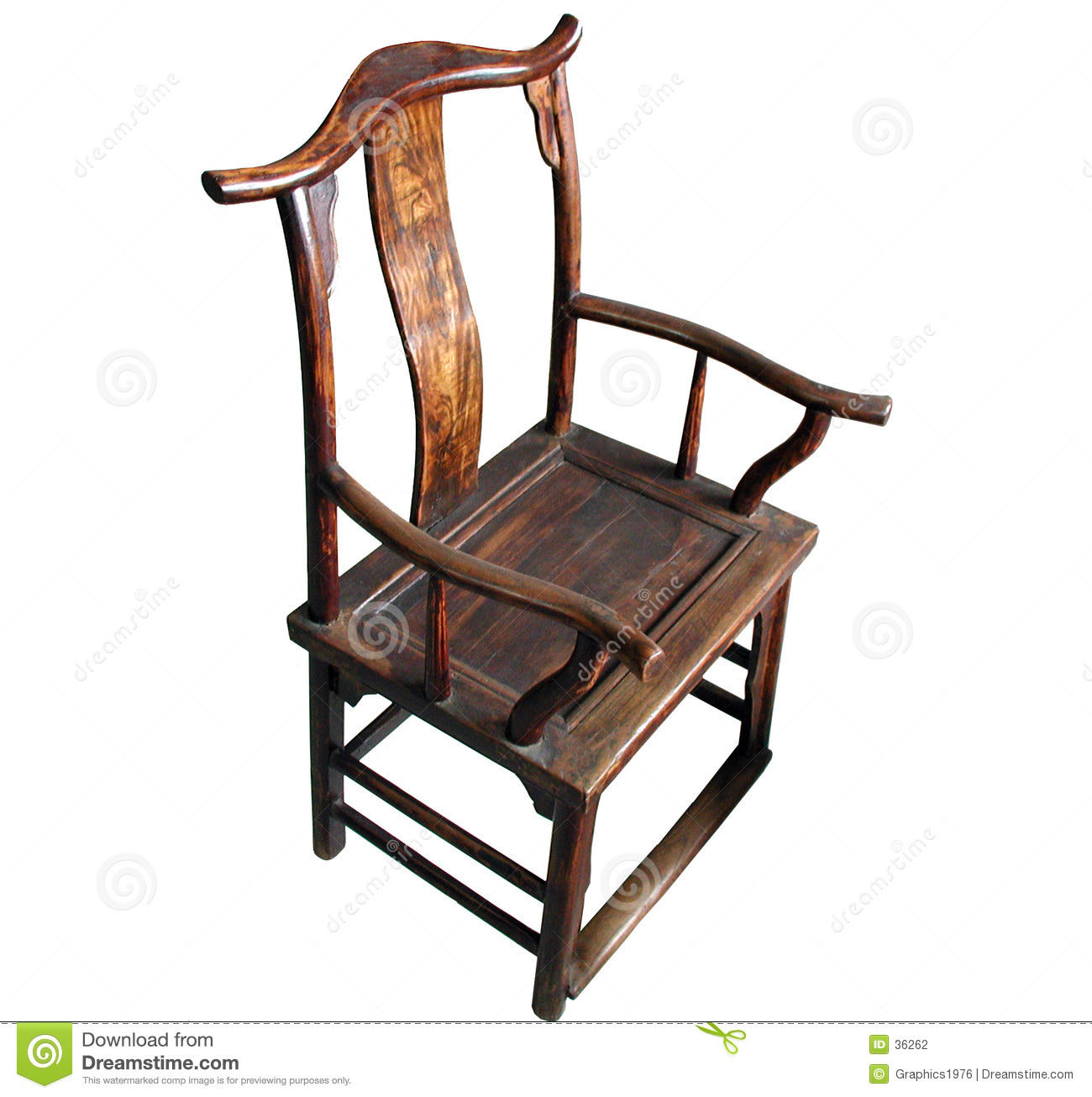 Chinese Antique Furniture Chair Isolated Stock Photography Image 36262