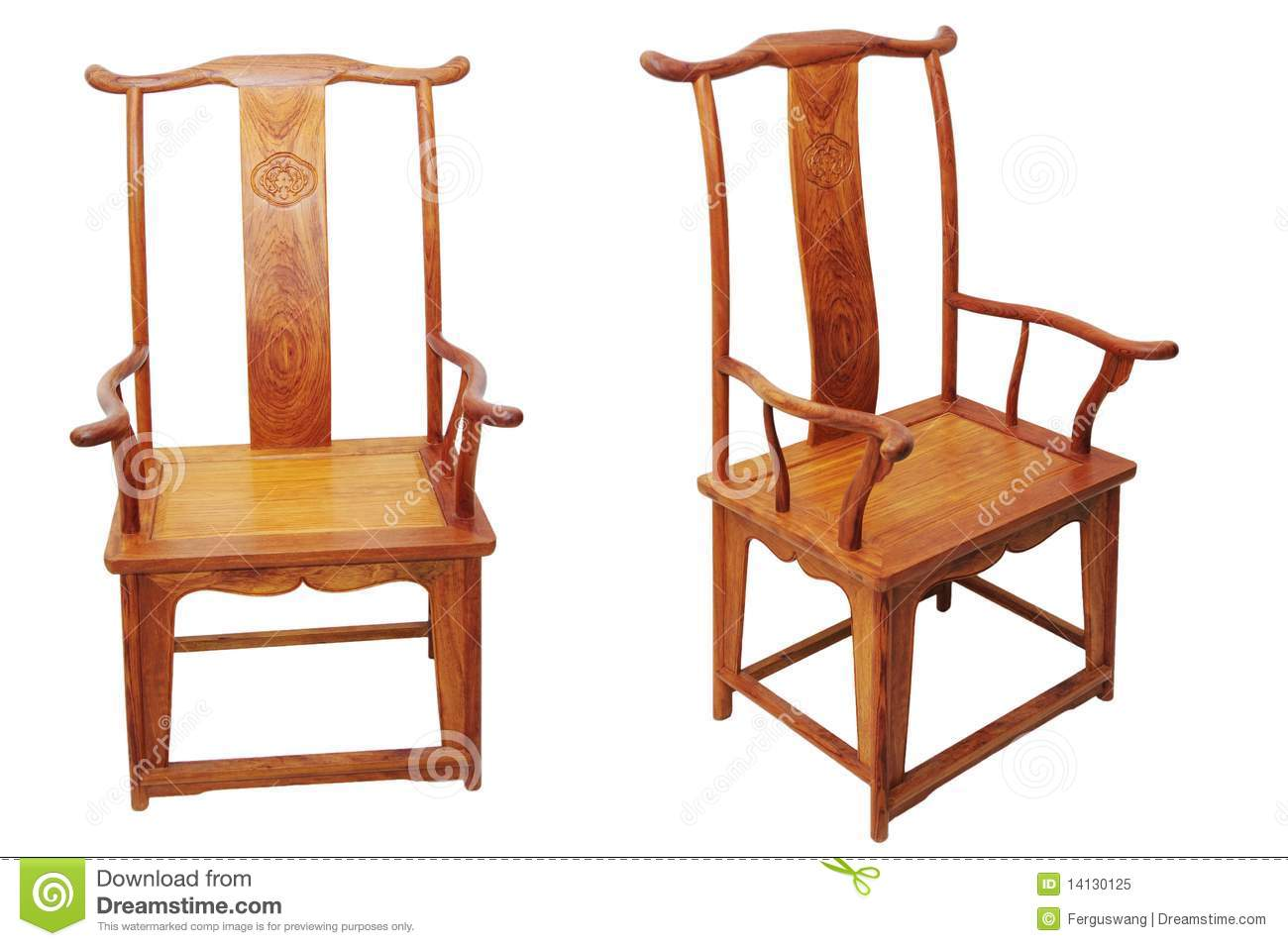 Antique furniture chair - Chinese Antique Furniture Chair On White Royalty Free Stock Photo