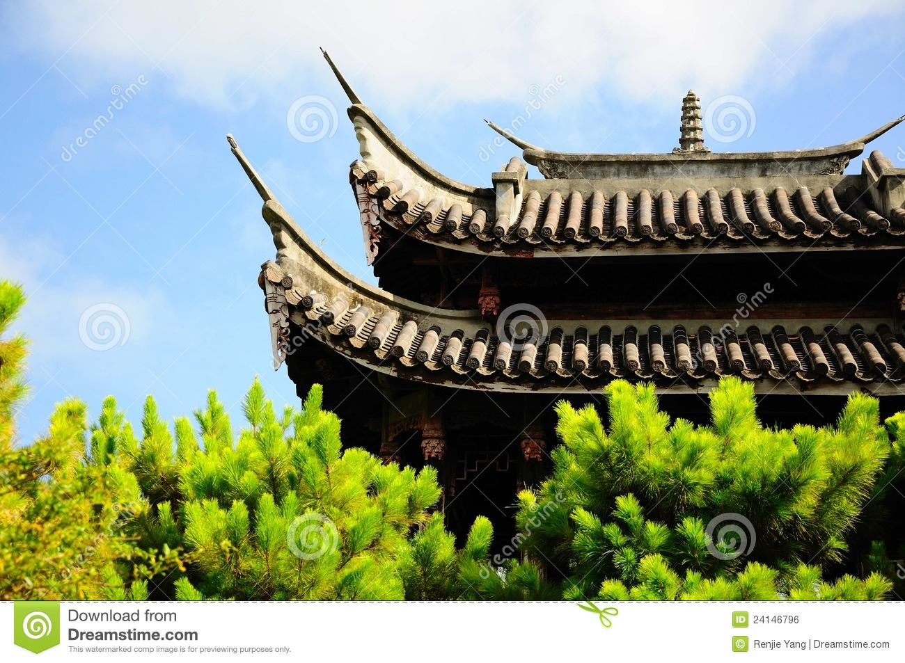 the chinese architecture roof stock photo image of building