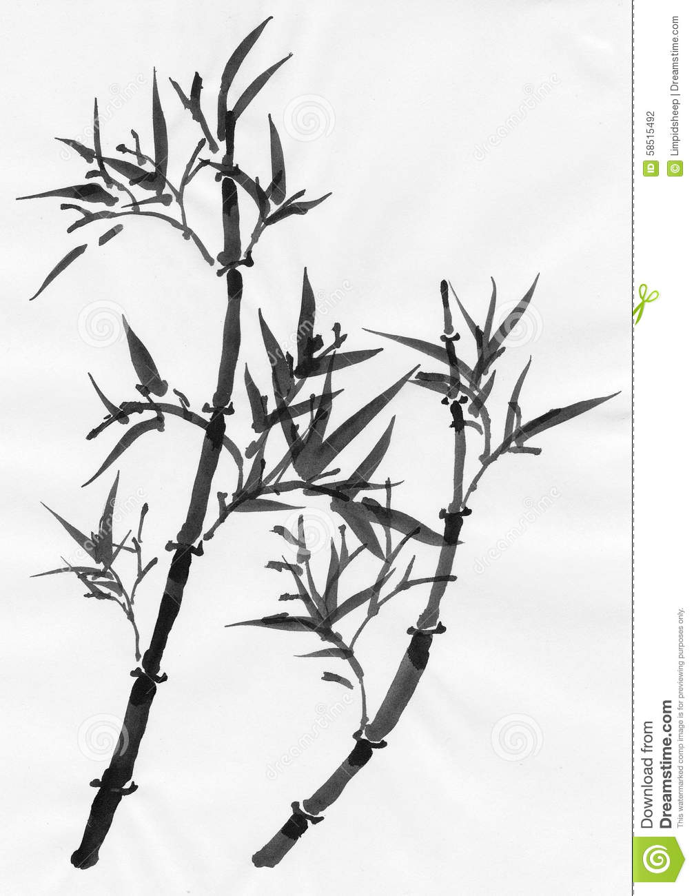 Chinese Art: Bamboo Stock Illustration - Image: 58515492