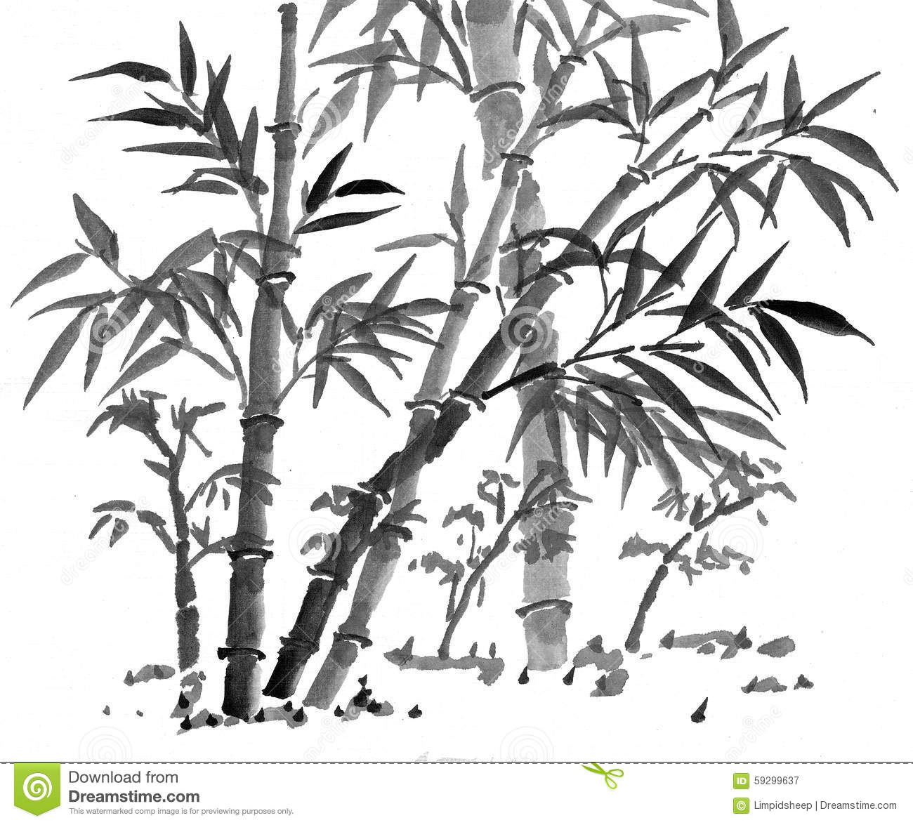 Chinese Art: Bamboo Forest Stock Illustration - Image ...