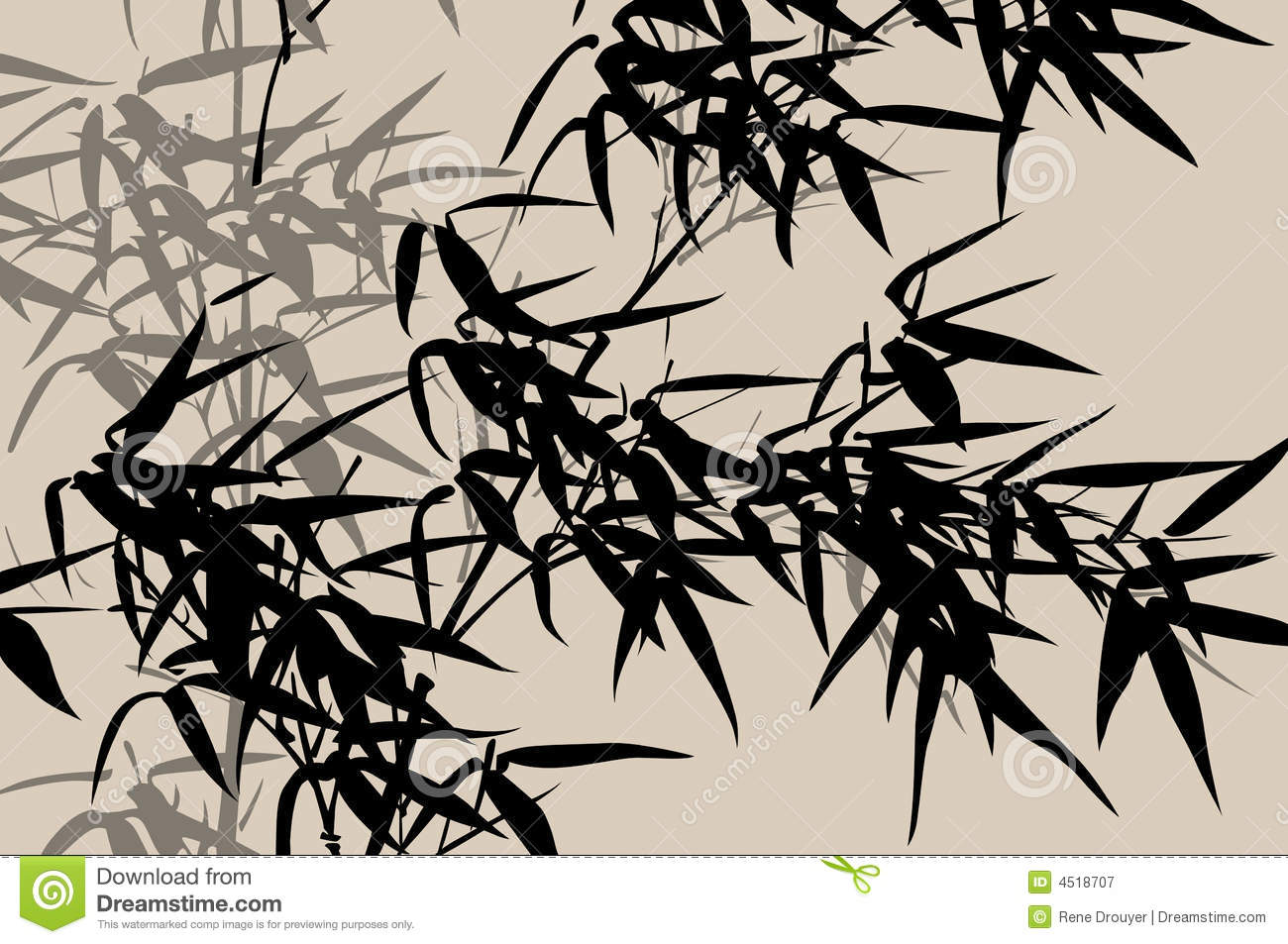 Chinese Art Ink Painting Stock Vector Image Of Maple 4518707