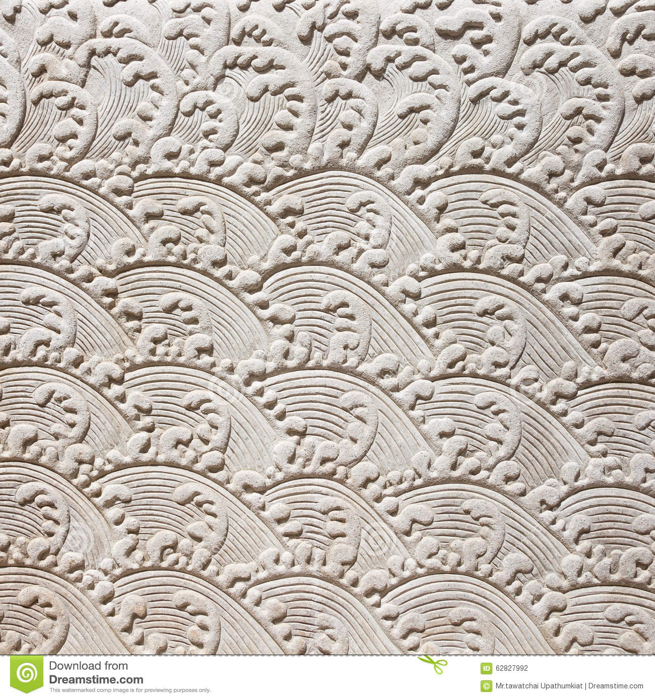 Chinese Art Style On Decorative Wall With Stucco Molding Stock Photo Image 62827992