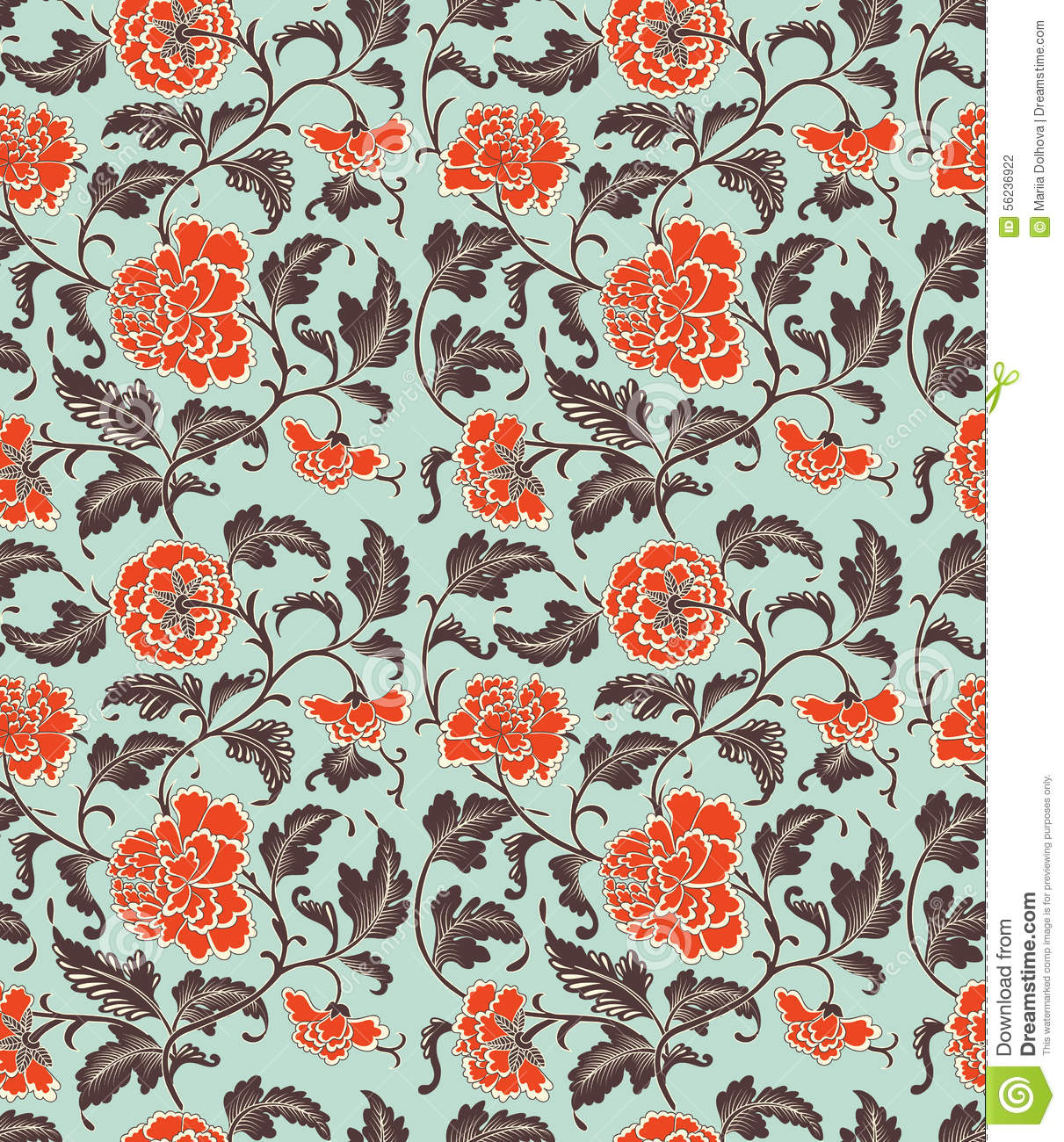 Chinese background with flowers.
