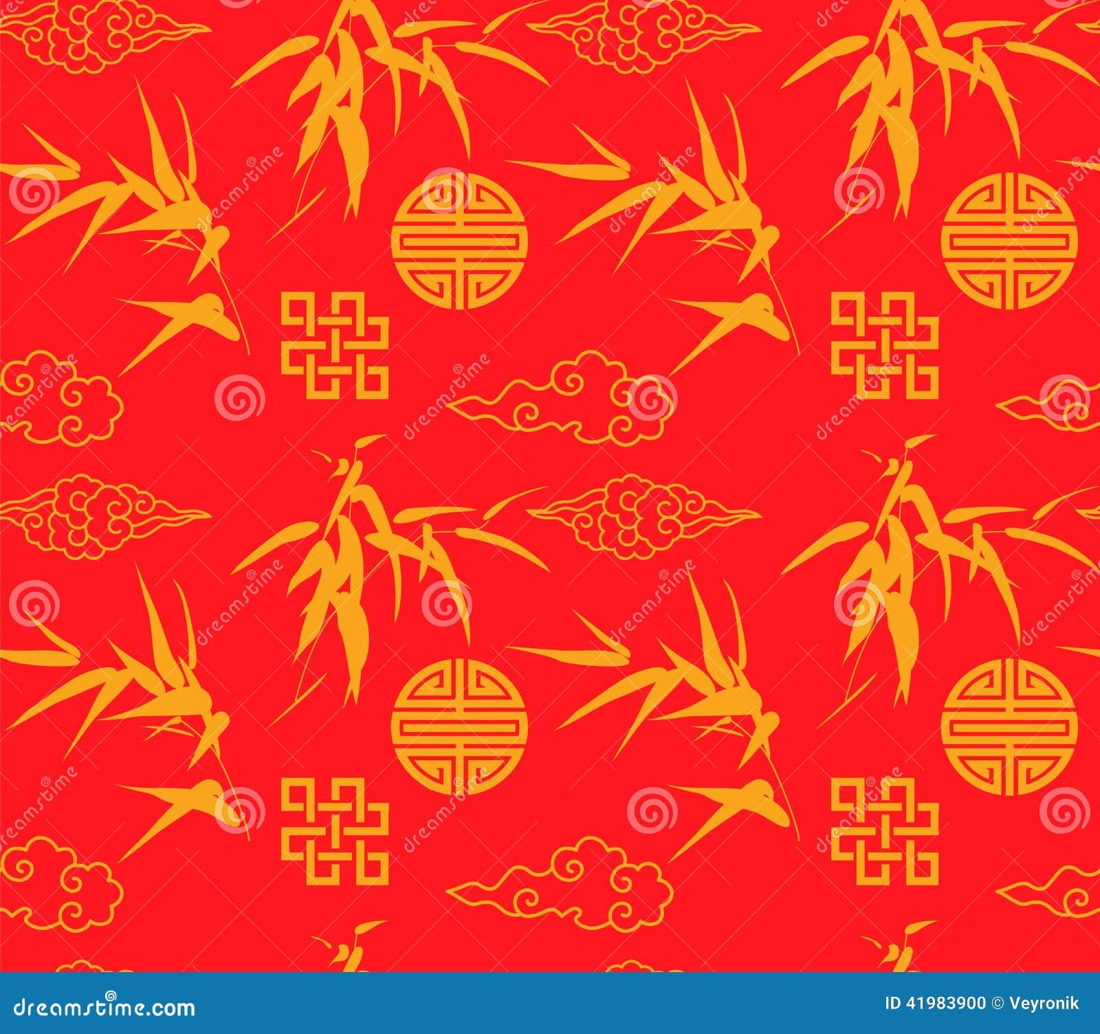 Chinese Bamboo Seamless Background