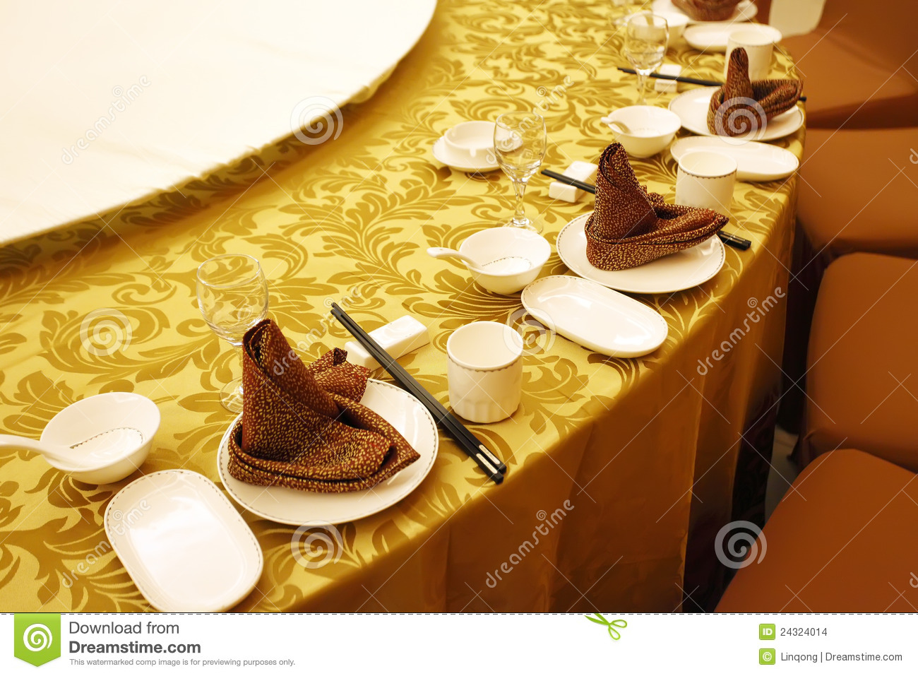 Chinese Banquet Table Setting Stock Photo Image 24324014