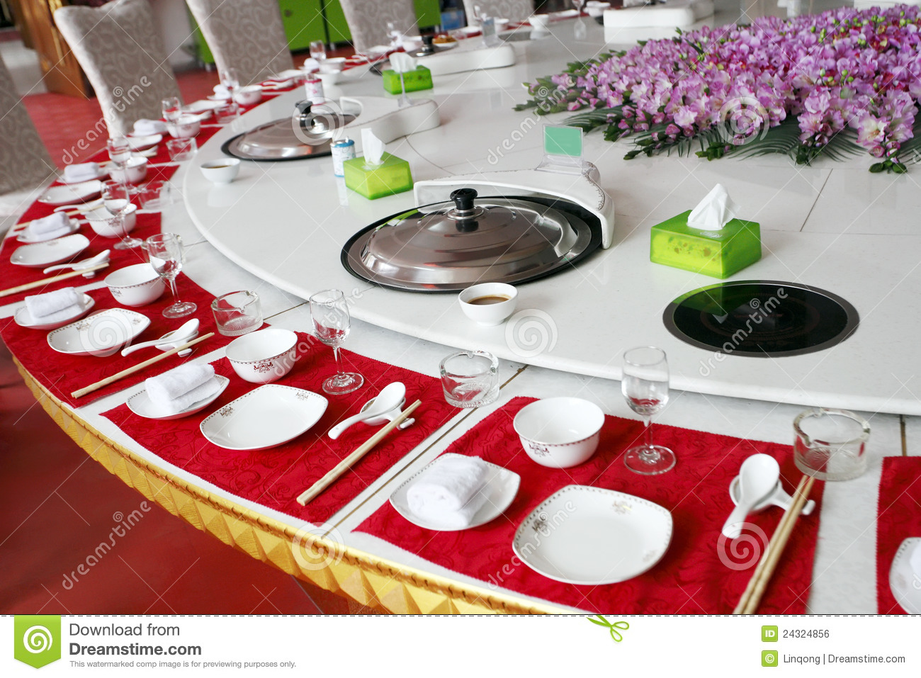 Chinese Banquet Table Setting Royalty Free Stock Image - Image ...