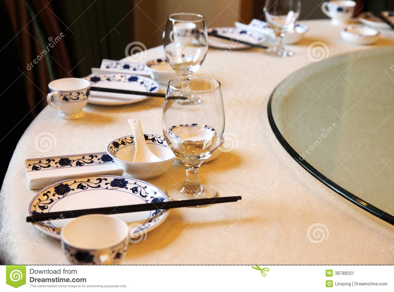 Chinese Banquet Table Setting Stock Photo Image 38788321