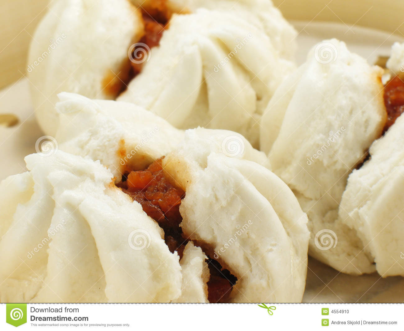 Chinese BBQ Pork Buns Stock Photo - Image: 4554910