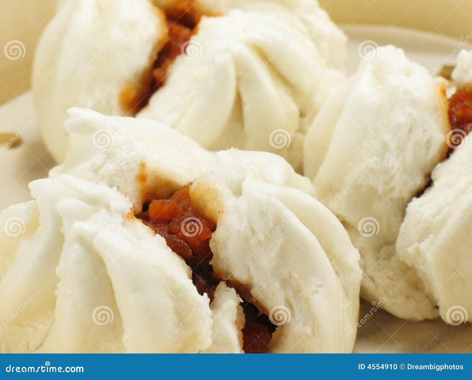 Chinese BBQ pork buns (char siu bao).