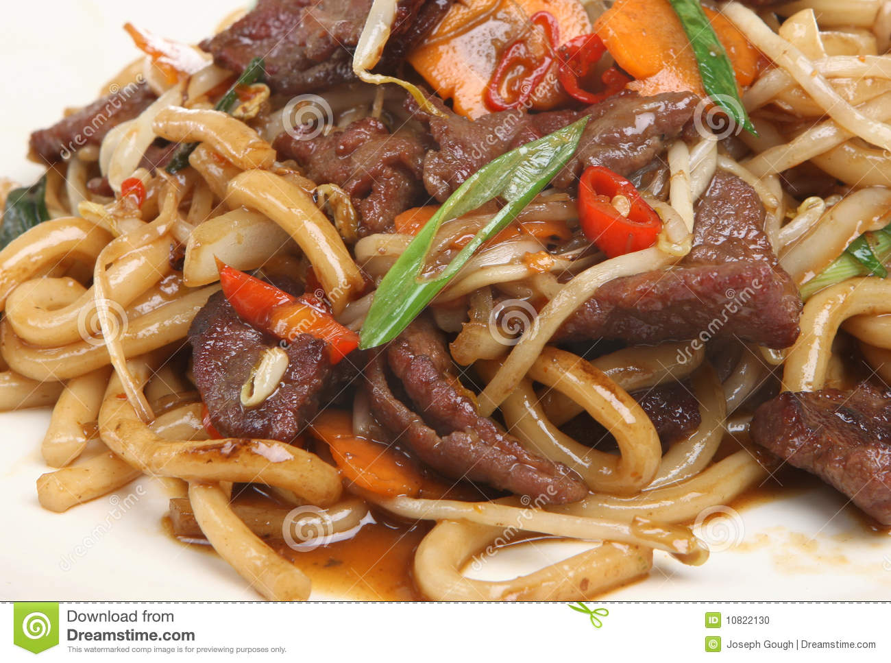 Chinese Beef Stir Fry With Noodles Takeaway Stock Photo - Image ...