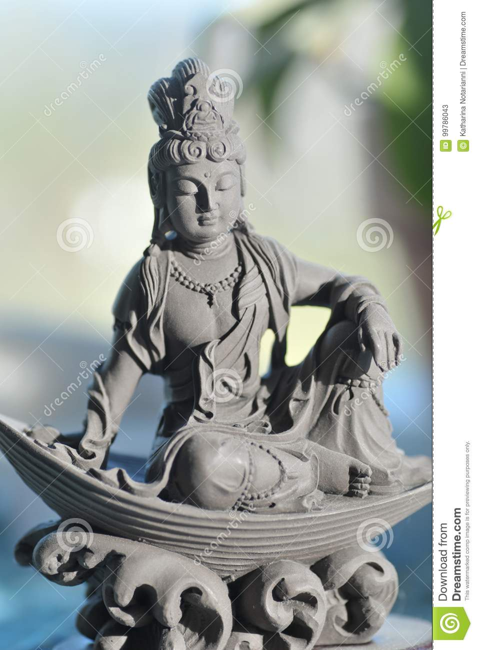 Ceramic Quan Yin Goddess of Compassion and Mercy