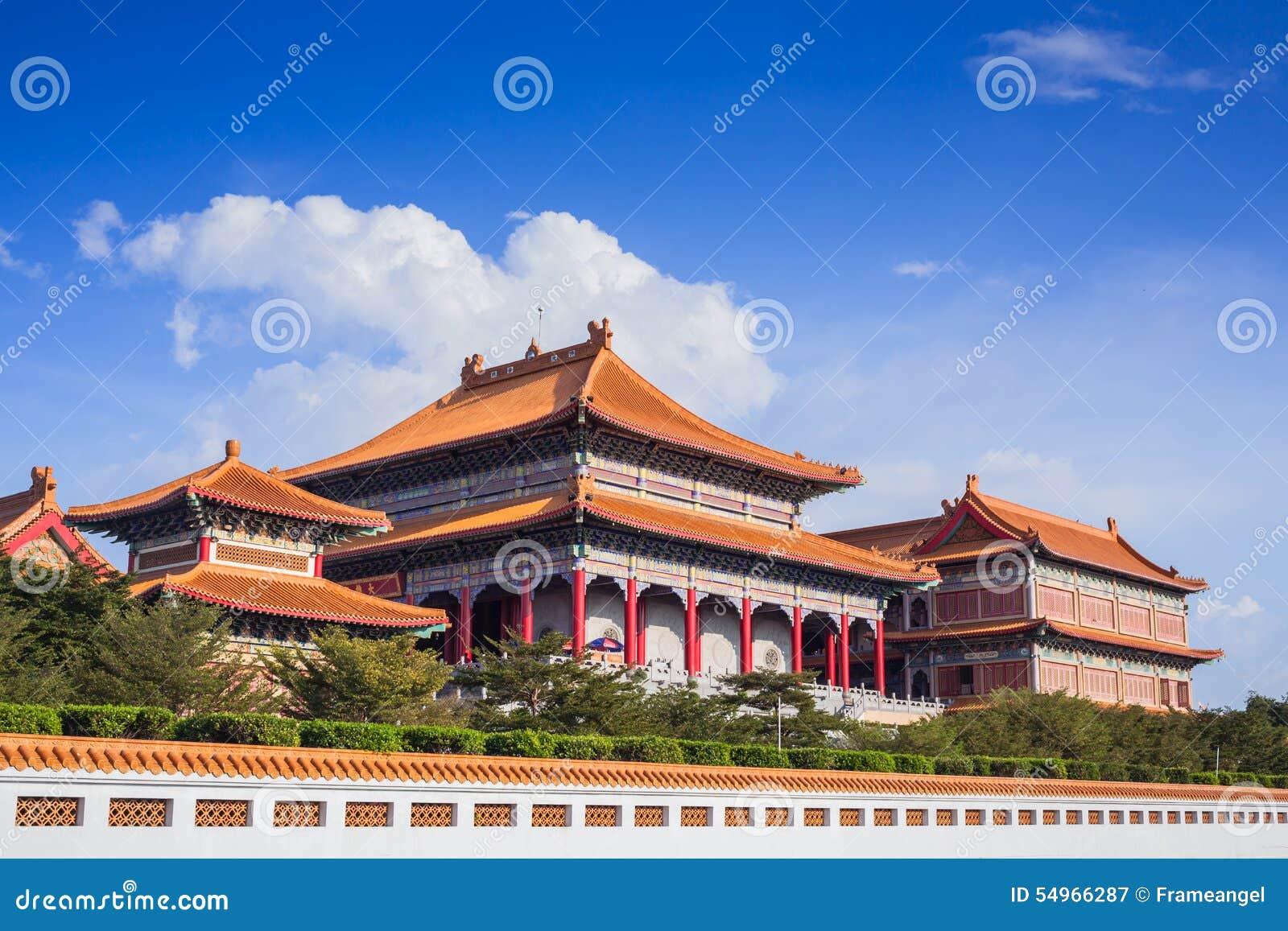 Chinese Buddhist Temple In Bangkok Names Stock Image - Image
