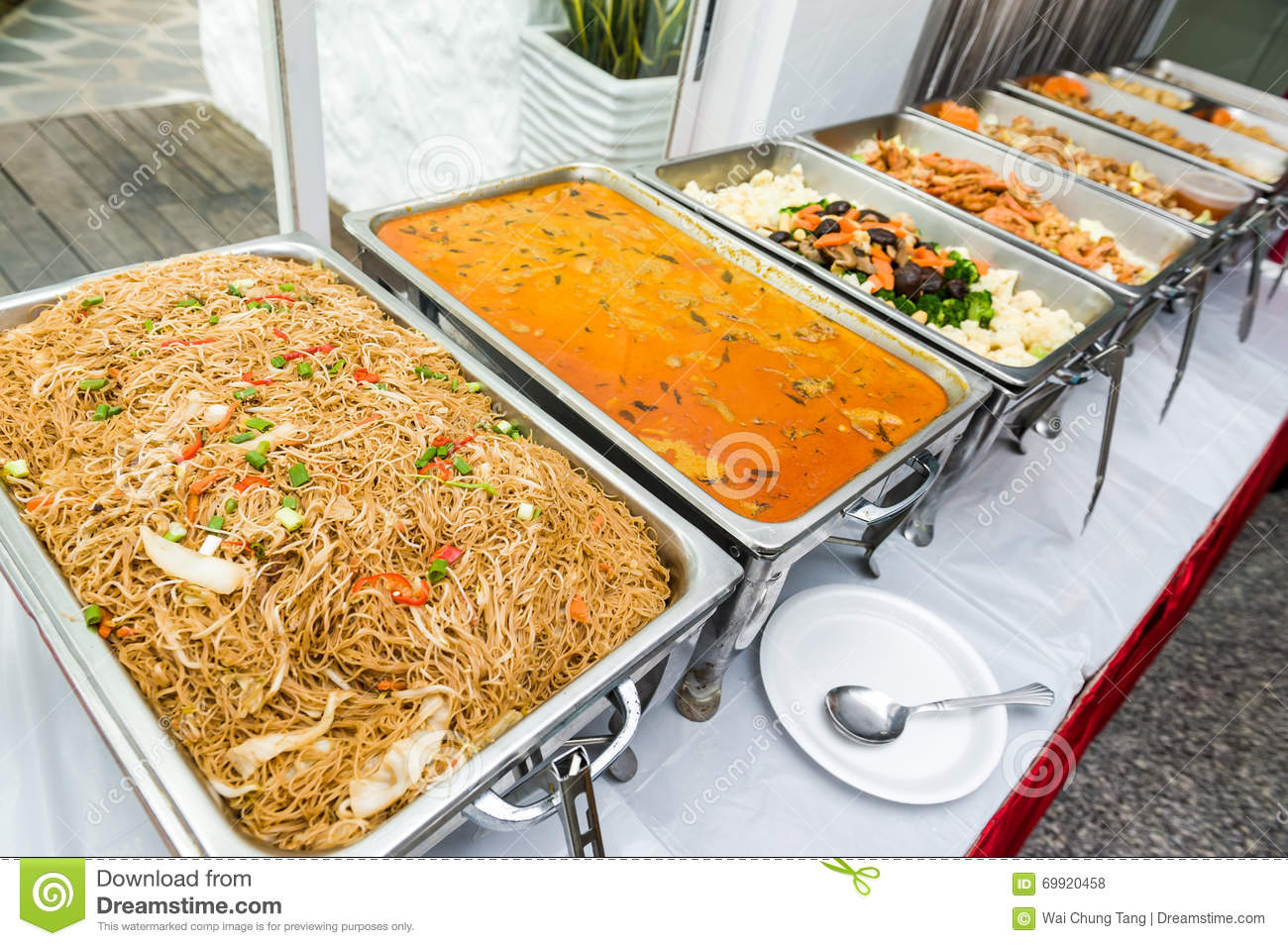 Chinese buffet of asian cuisine stock photo image 69920458 for Asian cuisine buffet