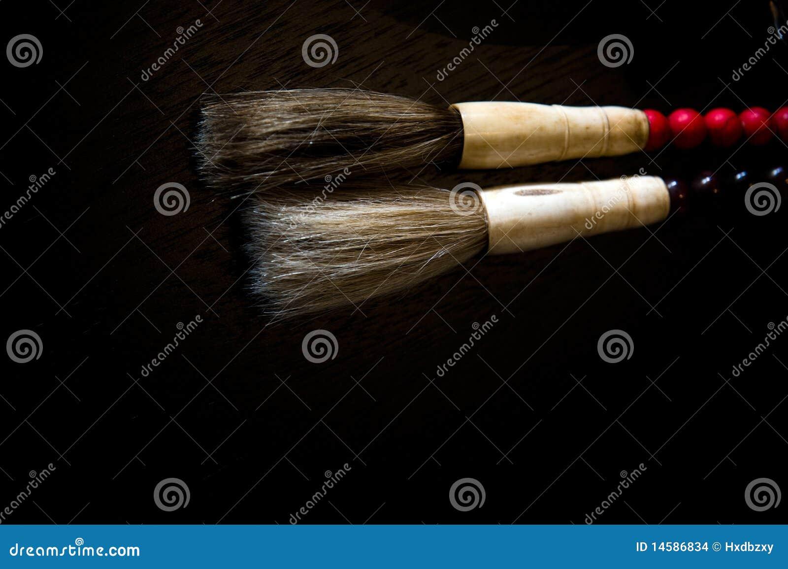 Chinese calligraphic brushes