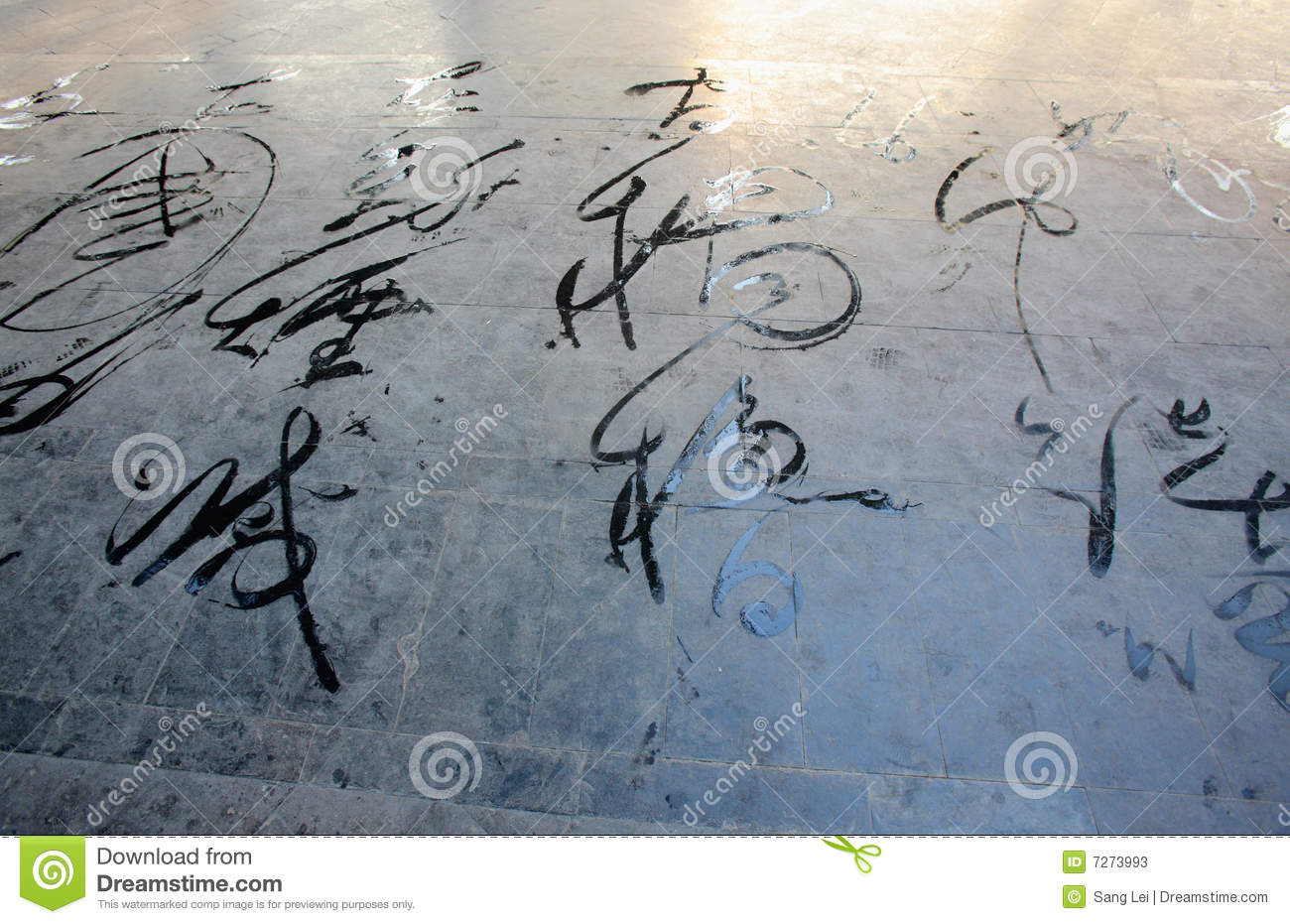 Chinese Calligraphy Stock Photos Image 7273993