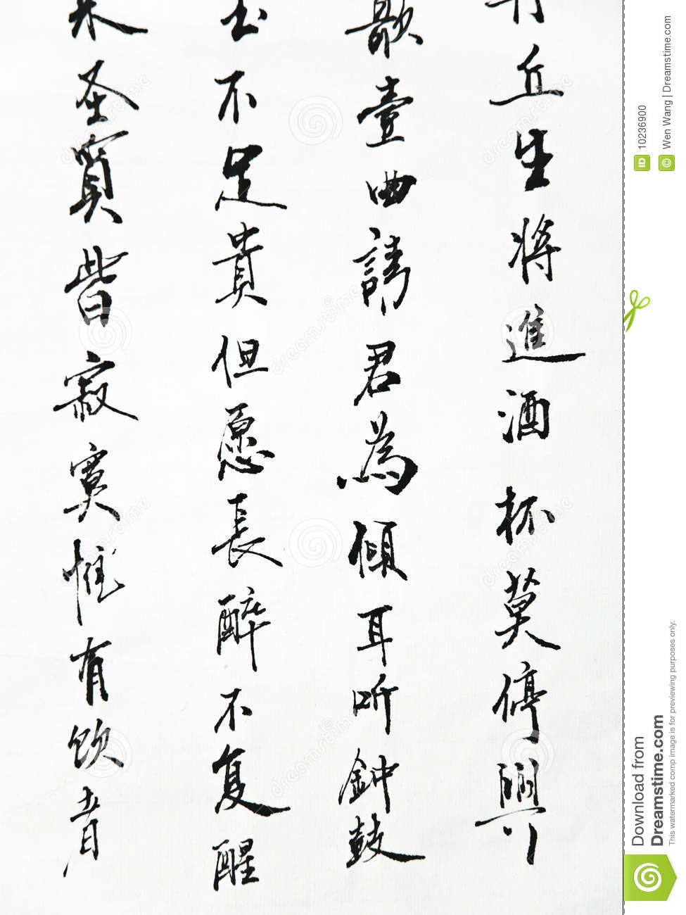 Chinese calligraphy art