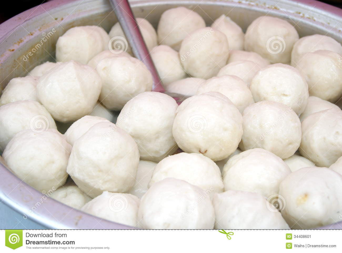 Chinese characteristics snacks meatballs stock image for Chinese fish balls