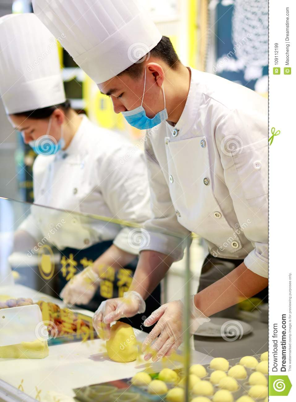 Chinese chef made pastry, srgb image