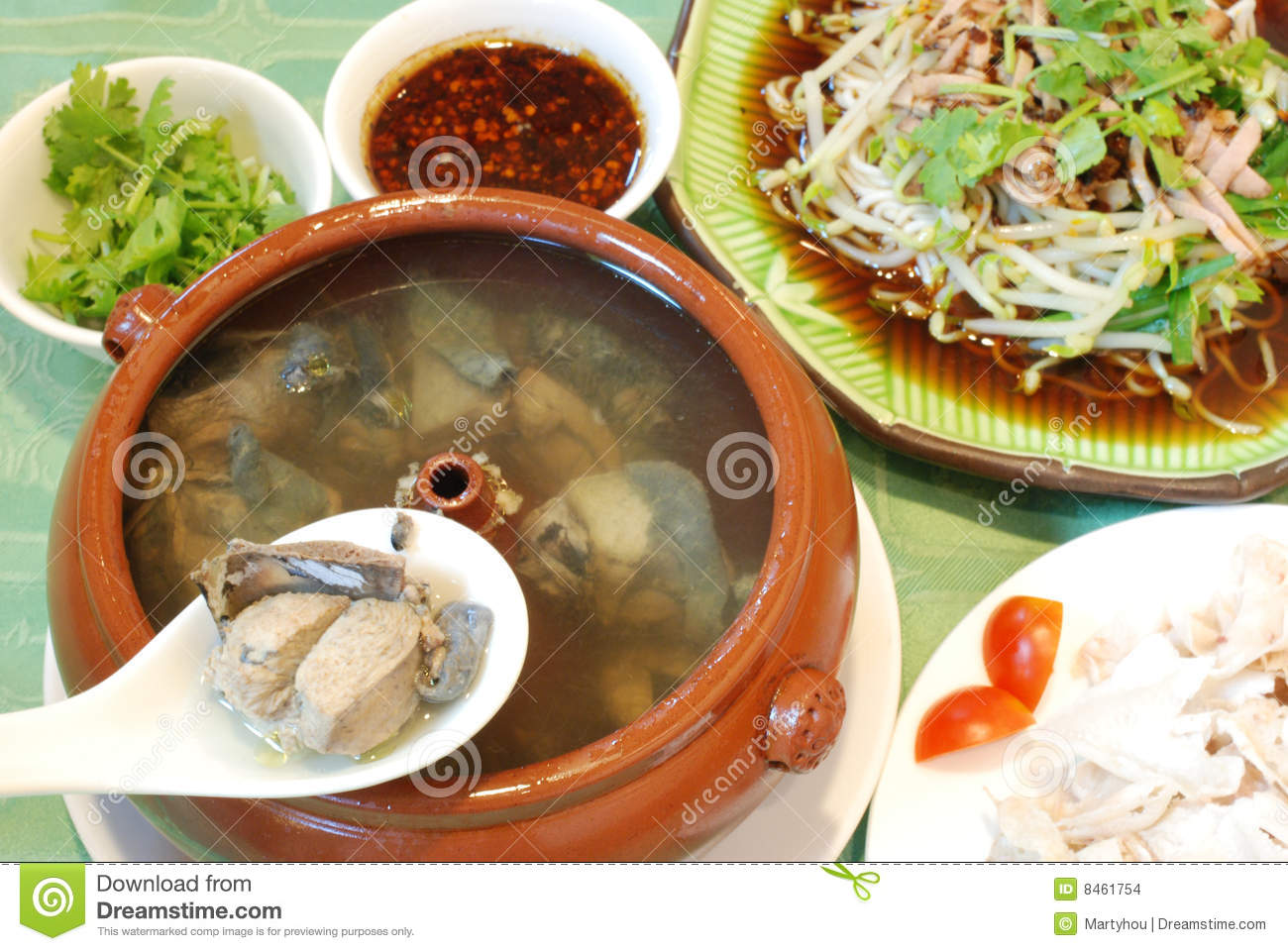 Chinese Chicken Pot Course Stock Images - Image: 8461754