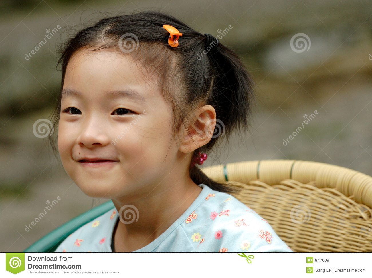 chinese child smile