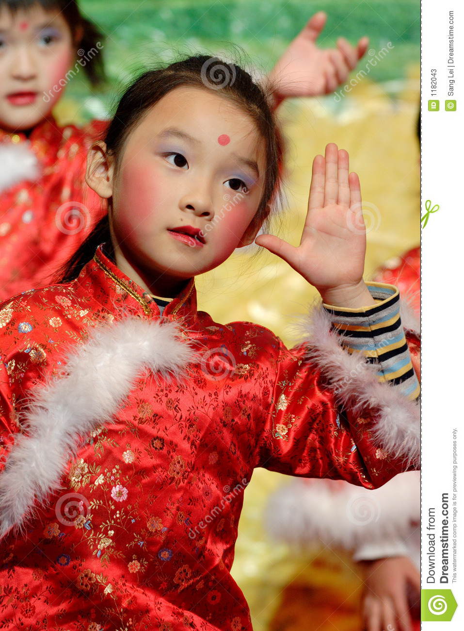 Chinese Children Dancing Stock Photos Image 1182043