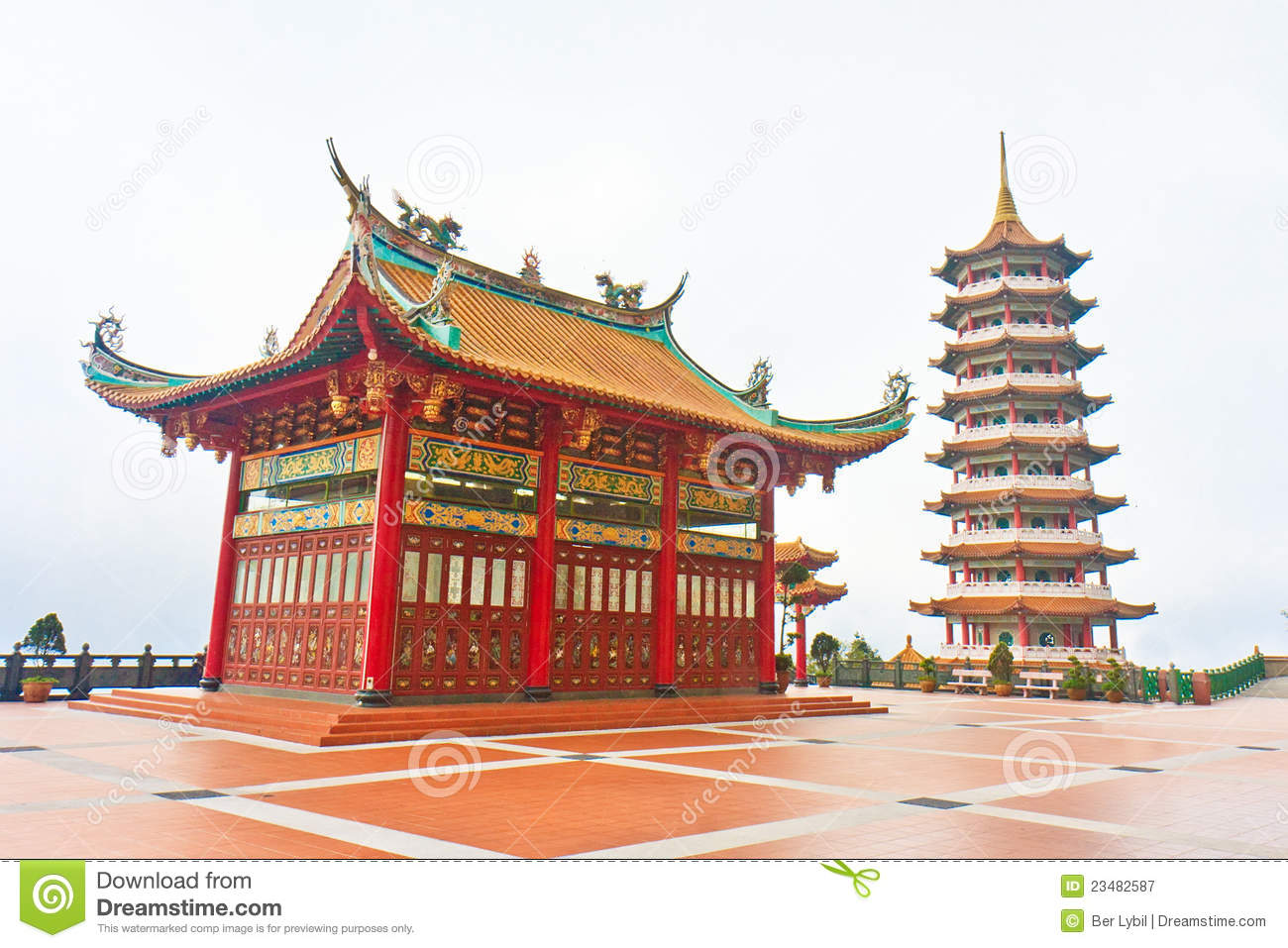 Chinese Chin Swee Pagoda Genting Highlands Royalty Free