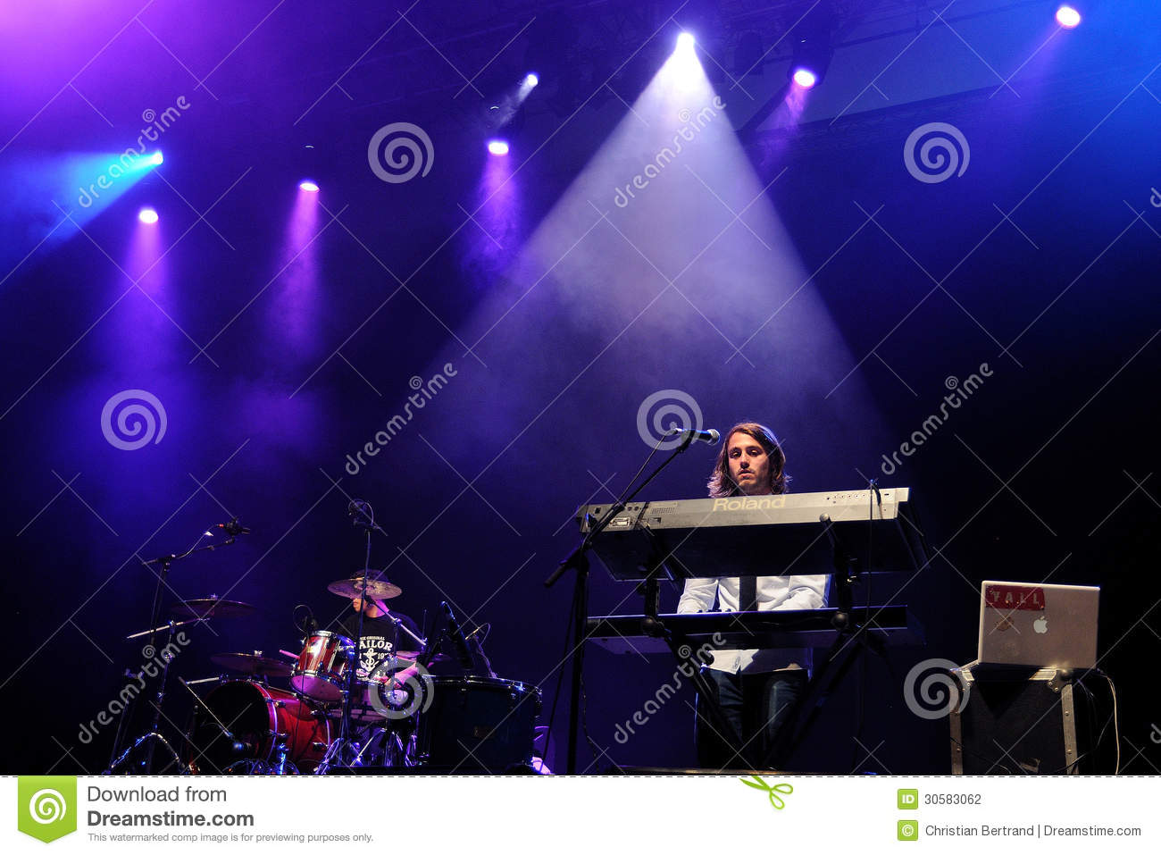 Chinese Christmas Cards Band Performs At Sant Jordi Club Stock Photo ...