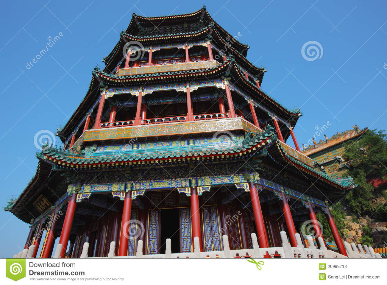 Chinese classic alcove
