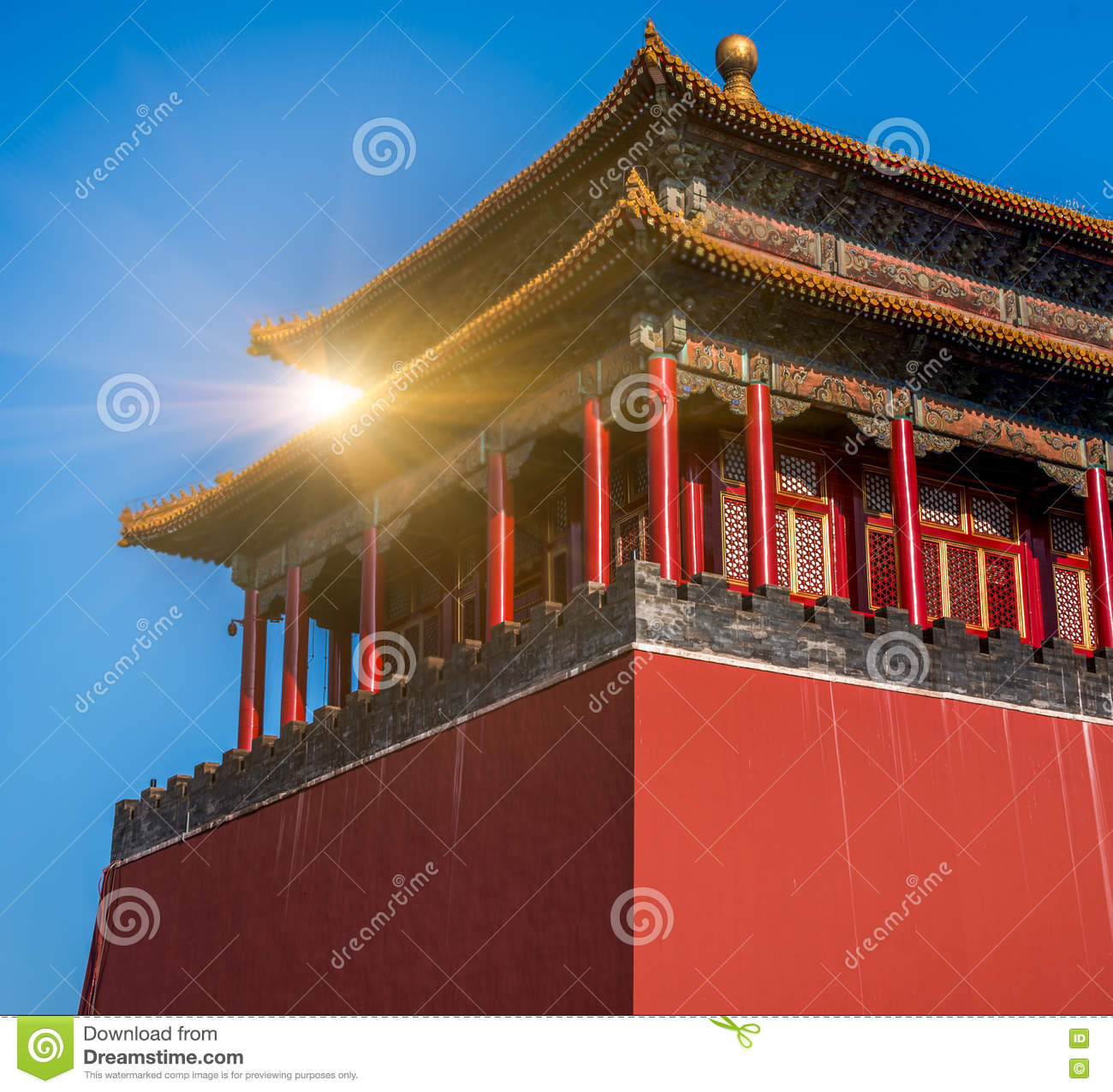 chinese classical architecture has a history stock image image of