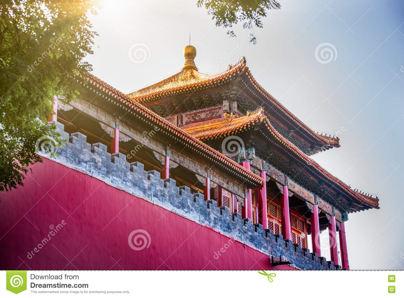 chinese classical architecture has a history stock photo image of