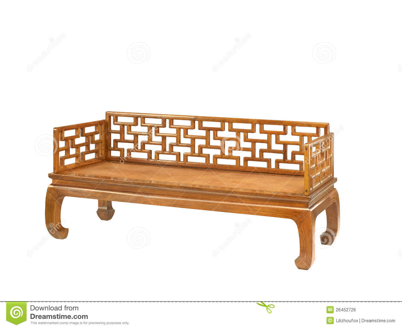 Chinese classical furniture of ming style royalty free for Oriental style sofas