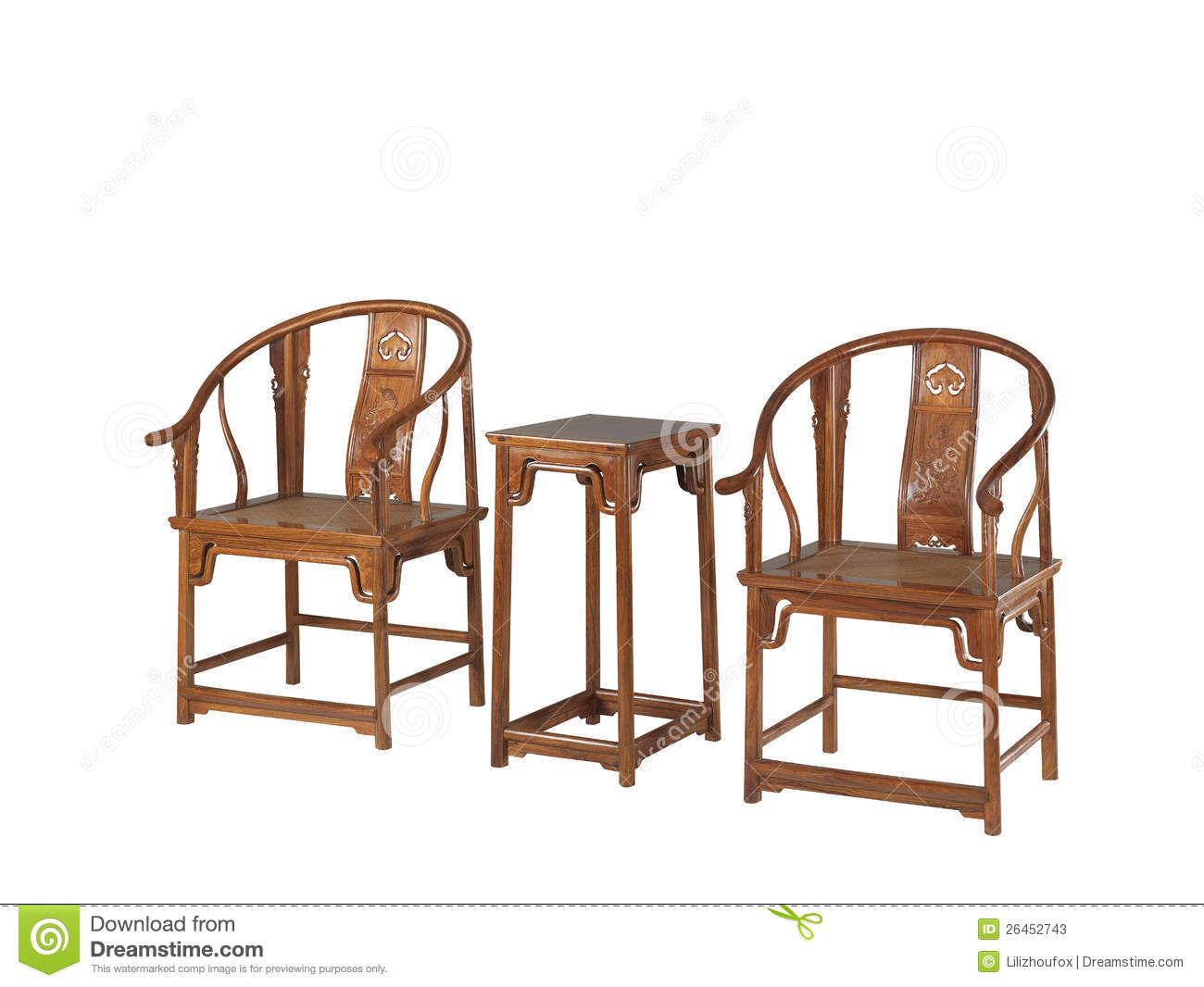 Chinese Classical Furniture Of Ming Style Stock Photos